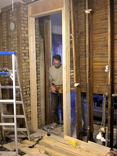 framing out a new doorway