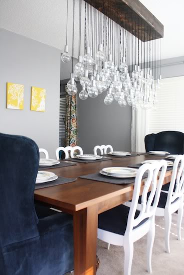 Lovely DIY Bubble Chandelier