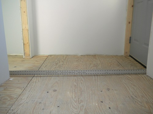 Bathroom Floor Underlayment For Tile : Prepping for tile cleaning and flattening the subfloor