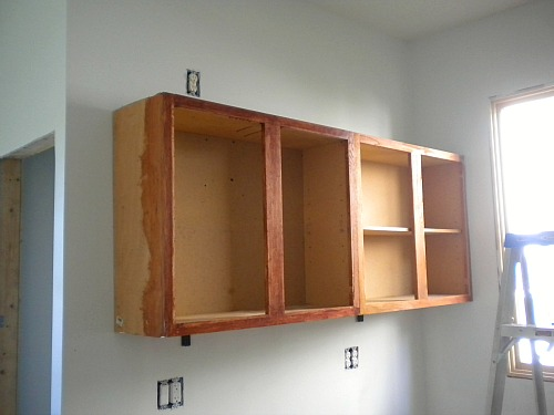 of by wall how kitchen installed cabinet install plus to hanging installing upper cabinets yourself