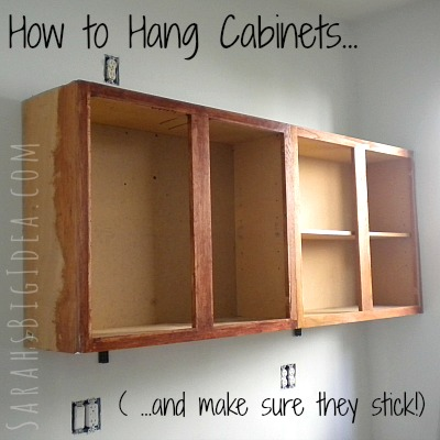 Interior How To Set Cabinets how to hang cabinets sarahs big idea