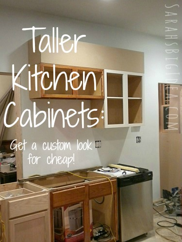 Make your kitchen cabinets look taller