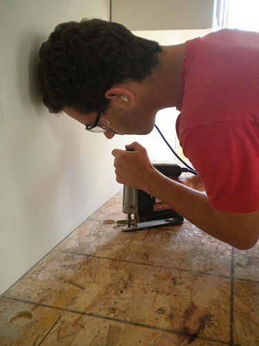 installing a sink in an Ardex countertop