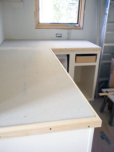 A countertop built for Ardex