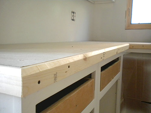 How to build easy Ardex countertops