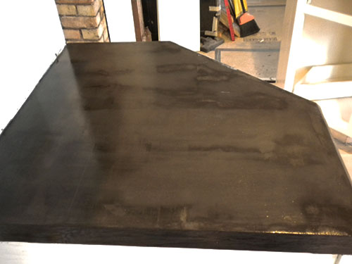 Sealed Ardex countertops over plywood