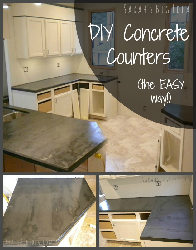 How to make fast, easy concrete counters
