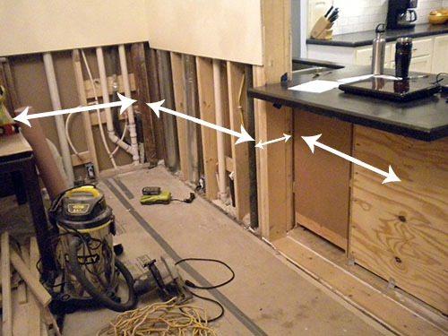 installing the wainscoting