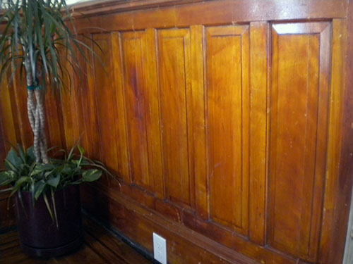 New wainscoting