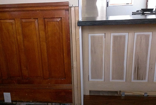 original wainscoting vs new wainscoting01-10-2014