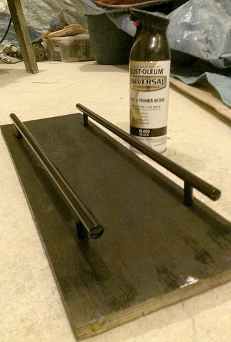 spray painting IKEA handles
