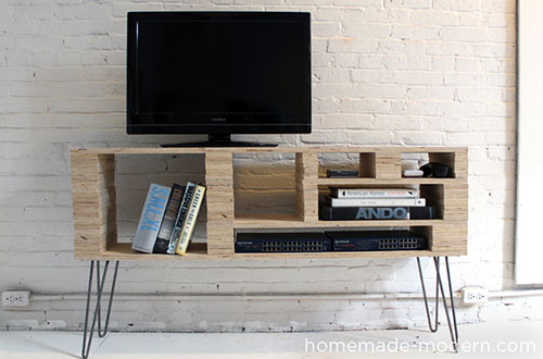 Homemade Modern: plywood media console