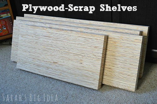 plywood scrap shelves