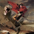 Me as Napoleon riding a t-rex.