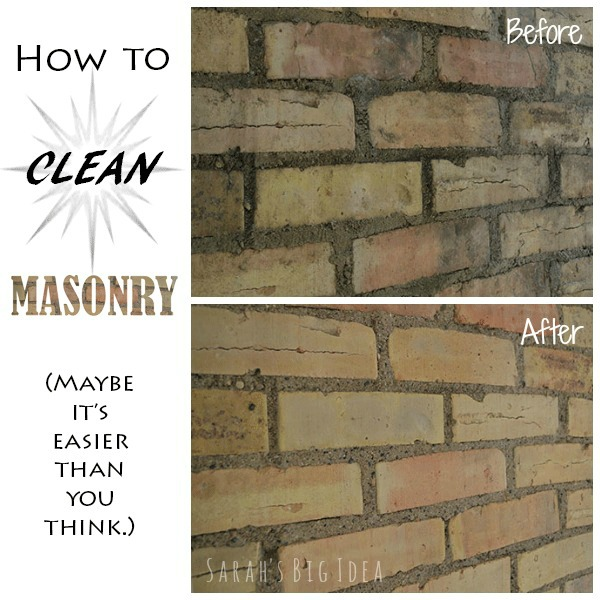 how to clean masonry
