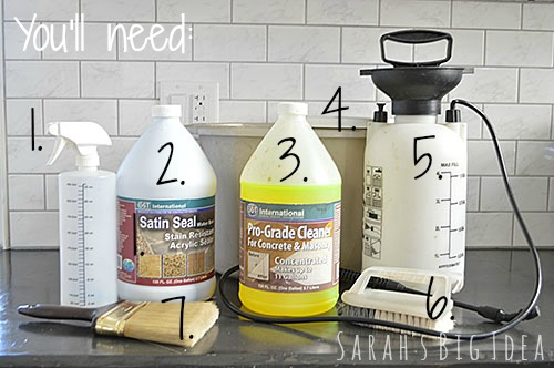 supplies for cleaning masonry