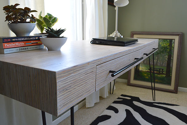 How to finish a plywood desk