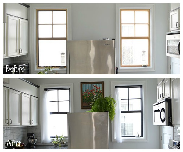 Painted windows: before and after