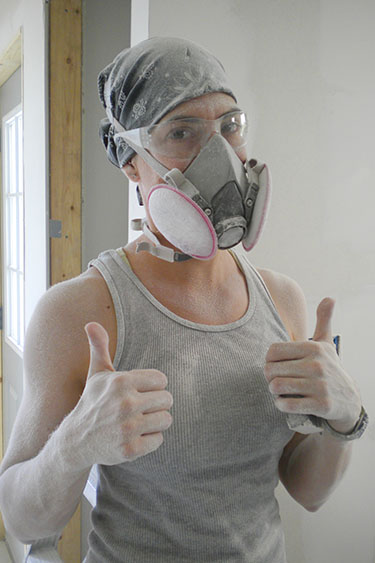 Sanding drywall is awesome.
