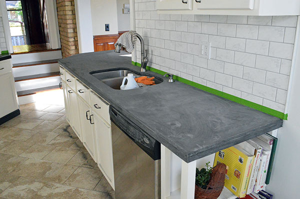 Sanding and refinishing Ardex counter tops