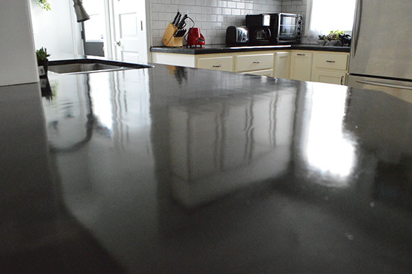 Sealing skim-coated concrete counter tops