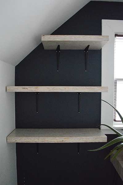 how to install shelves