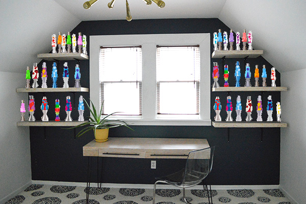 decorating with lava lamps