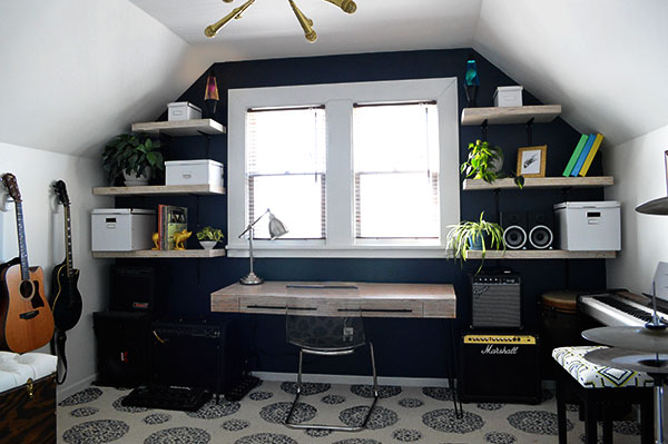 rock and roll music room makeover