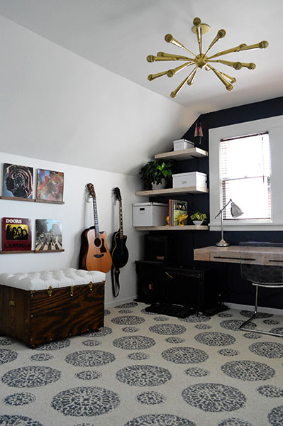 rock and roll inspired music room
