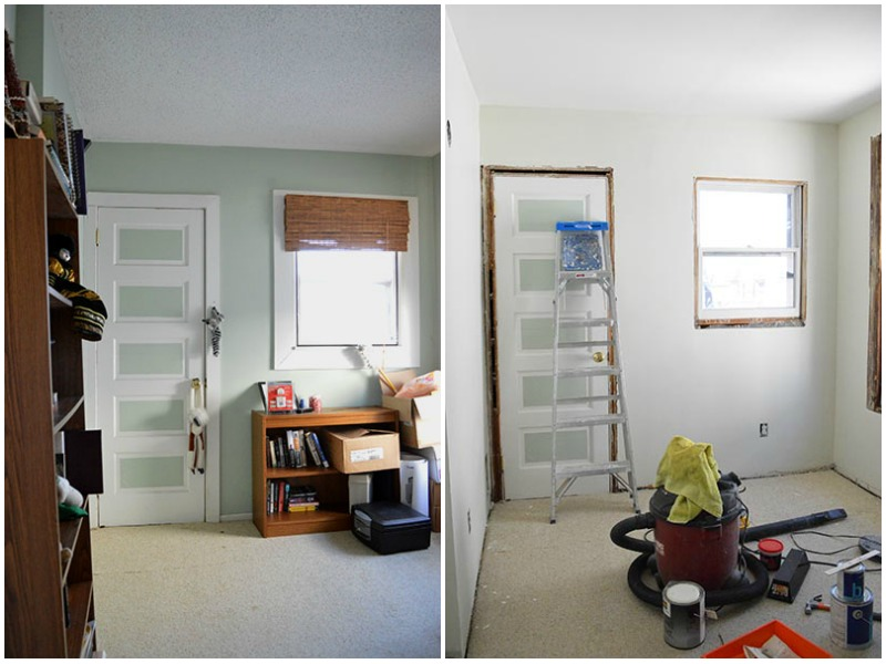nursery paint before and after