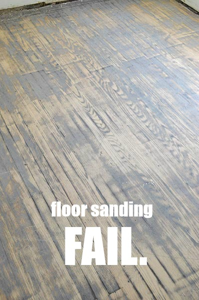 Floor refinishing lesson 1 sarah 39 s big idea for Sanding hardwood floors