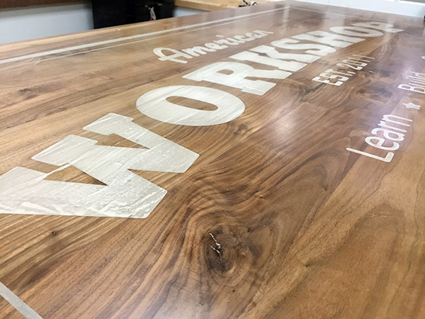 CNC engraved table