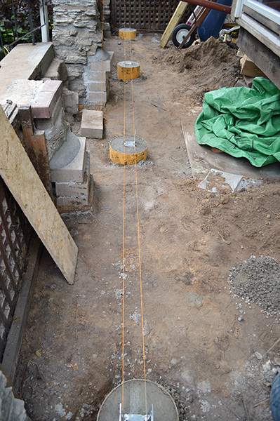 82 new concrete footings