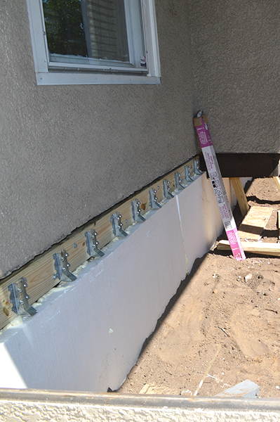 new ledger board and insulation
