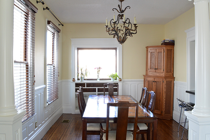 dining room with painted woodwork