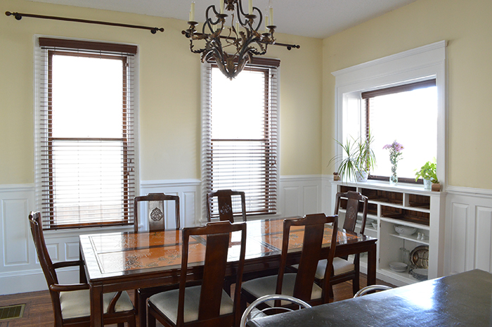 dining room, painted woodwork