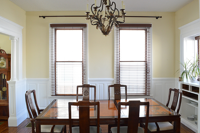 dining room, white woodwork