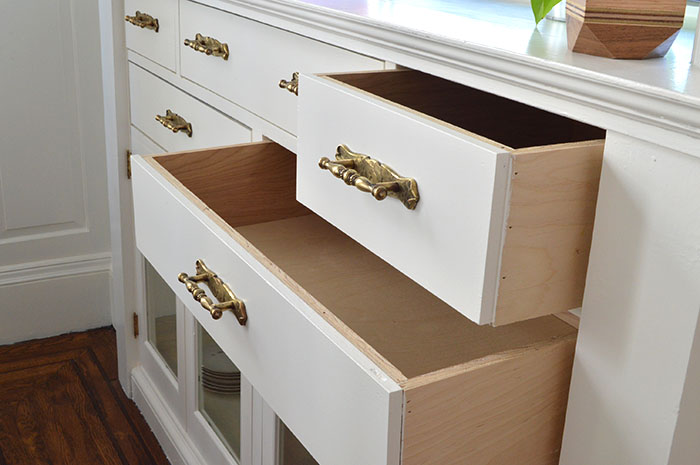 new drawers for built in buffet