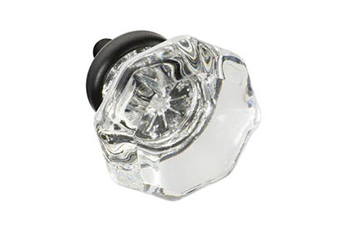 octagonal glass knobs