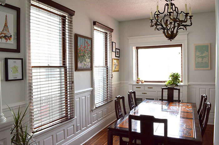 gray dining room makeover