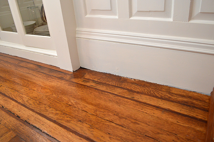 baseboard without shoe molding