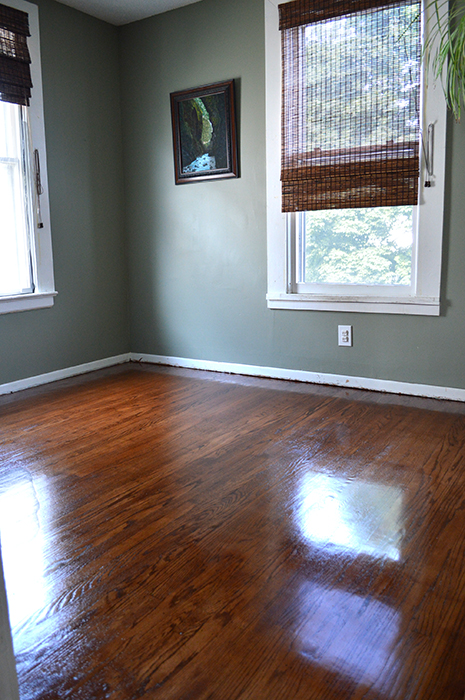 refinishing the original hardwood floors
