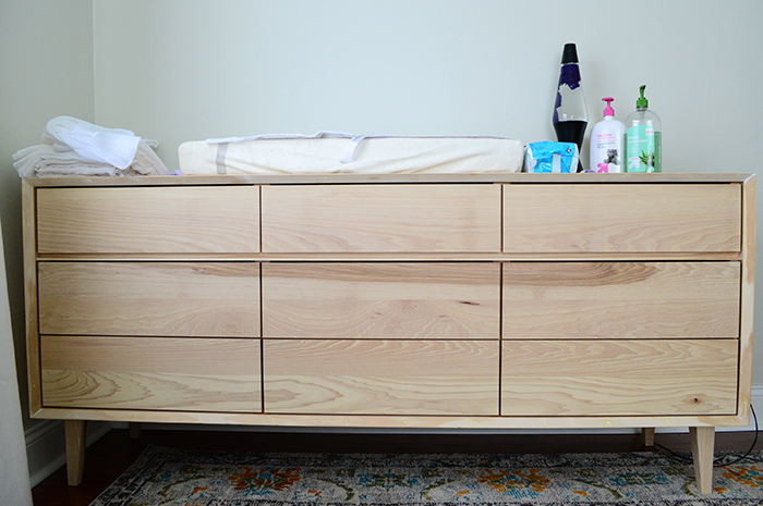 Rowan's dresser, unfinished