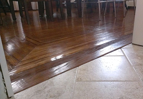 Flooring strip transition absolutely assured
