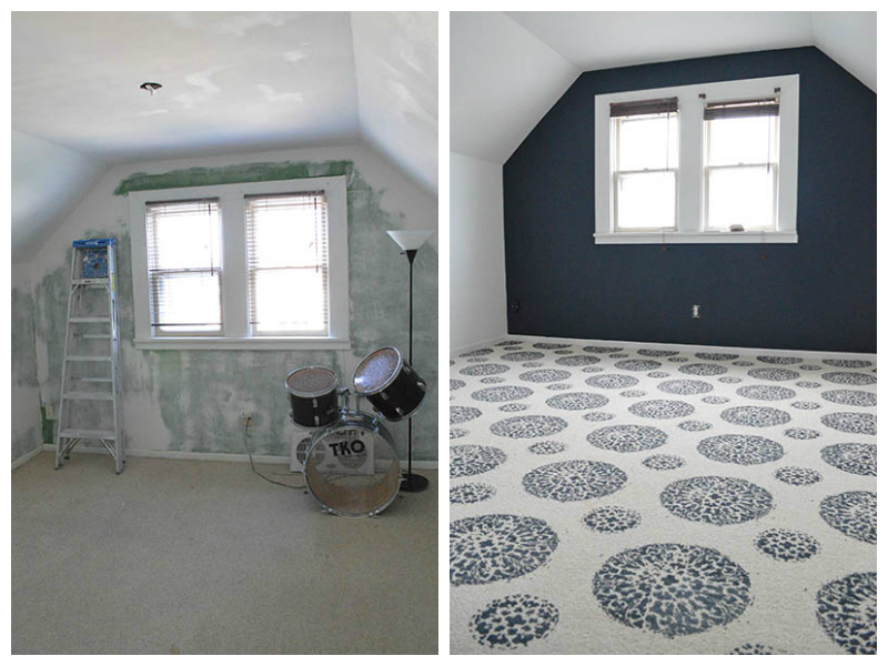 Painted Carpet Before And After